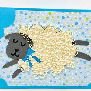 Sheep Quilling Greeting Card for any Occasion